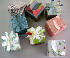 Spring swirls  Mini gift boxes  Set of 8 by PaperFairytale on Etsy, $7.50