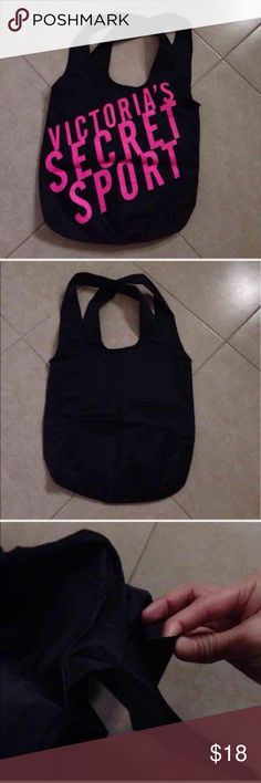 Sport bag Sport bag, never used, black and pink, large size like Vera Bradley bag listed, inside side open pocket Victoria's Secret Bags