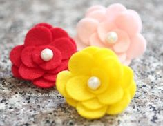 How To Make a Felt Flower - Repeat Crafter Me