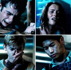 i relate to Newt's reaction. i'm usually just shocked, but then i started acting like Thomas. for example, Newts death