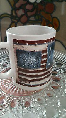 American flag coffee mug# America's Birthday coffee mug cup 4th of July #quilted