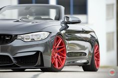 BMW M4 Convertible rocks blood red Vossen wheels and looks amazing