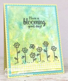 I finally got a chance to do the tissue paper technique for the VSN Florapalooza! This is my submission using a flower stamp and black ink. Flower Stamp, Paper Size, Tissue Paper, Stampin Up, Alphabet, Christmas Cards, Doodles, Bloom, Doodle