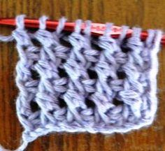 Lots of Crochet Stitches by M. J. Joachim: Tunisian Crochet Cross Stitch Tutorial