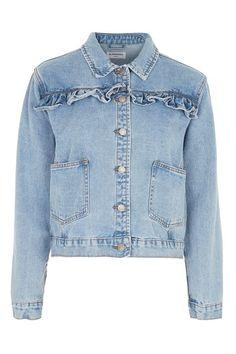 **Ruffle Denim Jacket by Glamorous