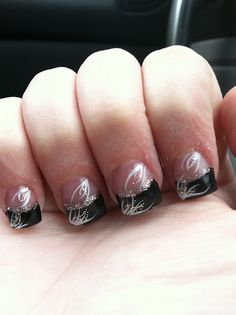 My black and white nails~