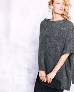 $368.00 Eileen Fisher Sequined Mohair Poncho