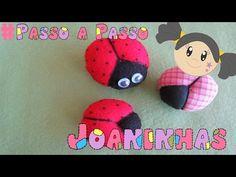 Artesanato Como fazer JOANINHA Fuxico Jojô no PALITO ou ÍMÃ Lembrancinha DIY - YouTube