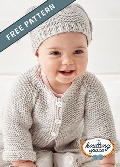Keep Your Little One Warm With This Happy Bunny Knitted Baby Set Free Baby Sweater Knitting Patterns, Knit Baby Sweaters, Baby Hats Knitting, Free Knitting, Baby Clothes Patterns, Crochet Baby Clothes, Brei Baby, Pull, Bunny Hat