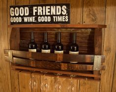 Reclaimed barnwood/Wine Stave wine rack - with rusted Tin barn roof - FREE Chrome Wine bottle stopper by WineStaveCrafts