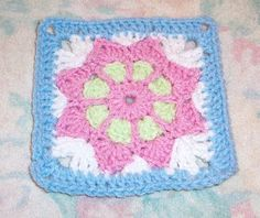 SmoothFox Crochet and Knit: SmoothFox's May Flower - Square 6x6 or Appliqué - Free Pattern