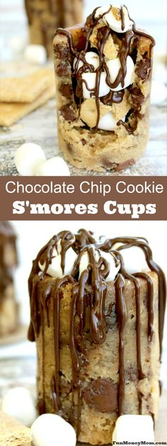 Everybody loves s'mores but why not make them with a fun twist. These delicious Chocolate Chip Cookie S'mores Cups are the perfect sweet treat for your summer fun!