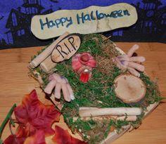 Halloween Grab,Zombie,Halloween Monster aus Polymer Clay,Polymer Clay Halloween,Halloween Art,Halloween Geschenk,Fantasy,Fantasie Figur von Luthiannasworld auf Etsy