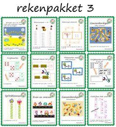 Rekenenpakketten voor groep 3 – Weg van onderwijs Kids Education, Spelling, Circuit, Bullet Journal, Math, Early Education, Math Resources, Games, Mathematics