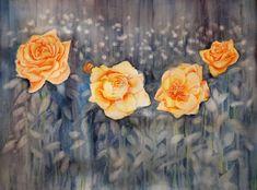 Rosas Descodificadas (Pintura),  50x65 cm por Benilde Rodriguez Acuarela sobre papel Montval Aquarelle Watercolour