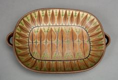 dybdahl dish leave pattern ornament danish studio by northvintage, $149.00