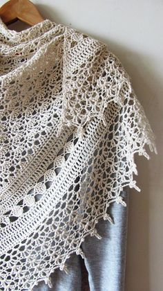 Hand crocheted with love ♥ and care. Delightfully soft and cozy summer shawl. Made of high-quality Italian yarn - blend of cotton and rayon in a sophisticated ivory color. Between other accessories, wrap is the one that sets the tone of entire look. This one would be perfect for