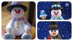 CREATING A POLYMER CLAY SNOWMAN - YouTube