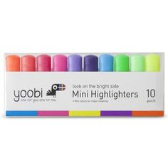 Yoobi 10ct Mini Highlighters - Multicolor. costs: $4.99 . target coupon - $1 off yoobi school supplies purchase of $5 or more. buy one.