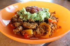 Mexican food for breakfast without any of the junk. This breakfast bowl is egg free but completely satisfying thanks to the creamy guacamole.