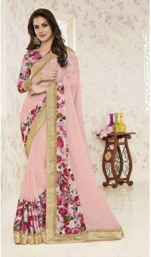 Soft Chiffon Fabric Mistyrose Color Lace Work Office and Casual Wear Saree | FH568784450 Follow us @heenastyle  #saree #sari #floral #satinborder #rani #pink #sareelove #casualsarees #print #prints #georgett #satin #crepe #printedblouse #sareeday #sari #saris #summer #textiles #girlnextdoor #model #casualsarees #jumka #loveshooting #linensarees #yellowflowers #stylist #fahionbloggers #handwoven #handloom #handcrafted #heenastyle