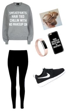 """""""Untitled #61"""" by skielerh on Polyvore featuring Private Party, NIKE, Fitbit and Casetify"""