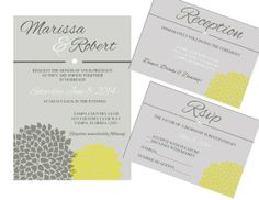 Instant Download DIY Wedding Invitation Template Kit - Printable - Word Version
