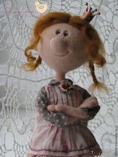Купить Принцесса в горошек - рыжий, кукла ручной работы, авторская кукла, девочка, принцесса