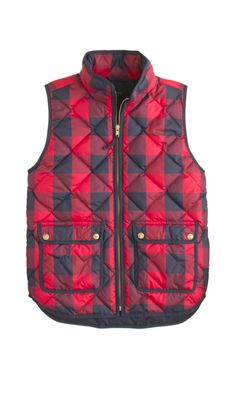 Quilted Vest in Buffalo Check