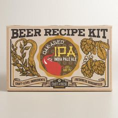 One of my favorite discoveries at WorldMarket.com: India Pale Ale Brew Your Own Craft Beer Refill Kit