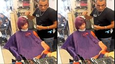 barber girl got bob haircut