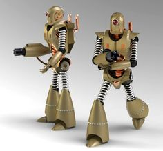 Steampunk Style Robot made by Anoton Shabramov