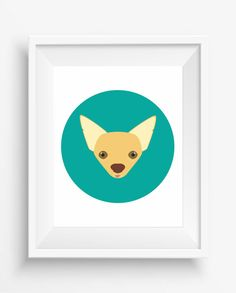 Chihuahua Print,Chihuahua Cute Dog Print,Puppy,Puppy watercolor,Pet Decor,digital Prints,instant Download,home decor,