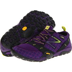 New Balance Minimus- Purple!   Minimus is a whole new approach to footwear—a new place on the spectrum from barefoot running to the traditional cushioned running shoe. The WO10 multisport shoe from New Balance® keeps her closer to the ground so she can maximize her workouts!