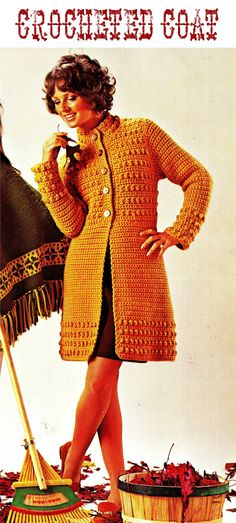 70s Crocheted COAT.~ pattern via Etsy.