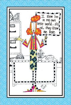 Own-Little-World-Dolly-Mama-Funny-Birthday-Card-Greeting-Card-by-Pictura