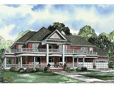 Plantation House Plan with 7870 Square Feet and 6 Bedrooms from Dream Home Source | House Plan Code DHSW38452