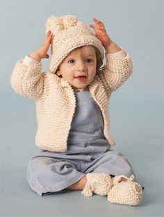 Image of Baby Cardigan - Oh Natural!