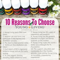10 Reasons to Choose Young Living Essential Oils!