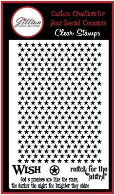 Stars Background Stamp