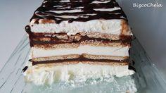 Tarta Helada De Nata, Galletas Y Chocolate