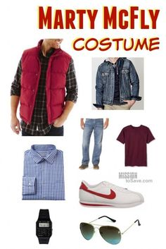 Last year was 10/21/15 Back to the Future Day.  And now Halloween is around the corner, this easy Marty McFly Costume is perfect!