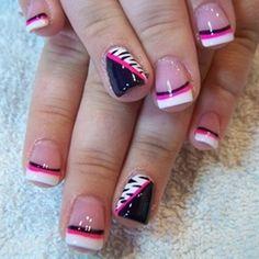 Trendy Nail Art Designs - Nail Art Designs Gallery - Zimbio hair-and-nails Nail Art Designs, French Tip Nail Designs, Nail Art Design Gallery, Nails Design, Art Gallery, Pedicure Designs, Fancy Nails, Love Nails, How To Do Nails