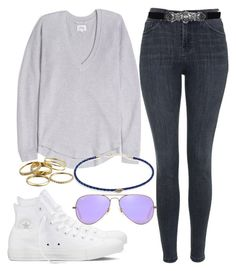"""Untitled #103"" by maggiejanexo on Polyvore featuring Topshop, Jacquie Aiche, Converse, Ray-Ban, Kendra Scott and BCBGMAXAZRIA"