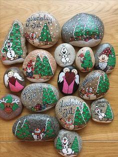 Seashell Painting, Pebble Painting, Pebble Art, Stone Painting, Stone Crafts, Rock Crafts, Christmas Crafts, Arts And Crafts, Rock Painting Patterns