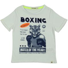 b43541dac Boys White T-Shirt with Boxing Tiger Print / Free UK delivery & returns on