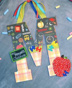 Teacher Appreciation Customized Initial by SweetBrisDesigns