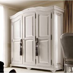 Shop the Bowling Greige Mirrored Armoire at Perigold, home to the design world's best furnishings for every style and space. Armoire Makeover, Wardrobe Makeover, Painted Armoire, Antique Wardrobe, French Country Bedrooms, New Home Designs, Diy Home Decor, House Design, House Styles
