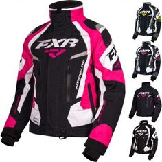 FXR Racing Adrenaline Womens Skiing Snowboard Sled Snowmobile Jackets