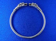 Fantasy Dragon Bracelet Sterling Silver Handmade Bangle 34g   Etsy Silver Bangles, Sterling Silver Bracelets, Silver Jewelry, Dragon Bracelet, Unisex Gifts, Fantasy Dragon, Silver Dragon, Handmade Bracelets, Handmade Silver